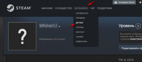 Найти аккаунт Стим