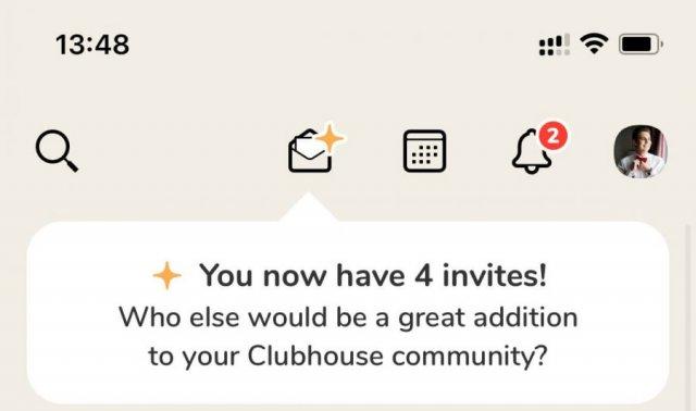 Инвайты в Clubhouse