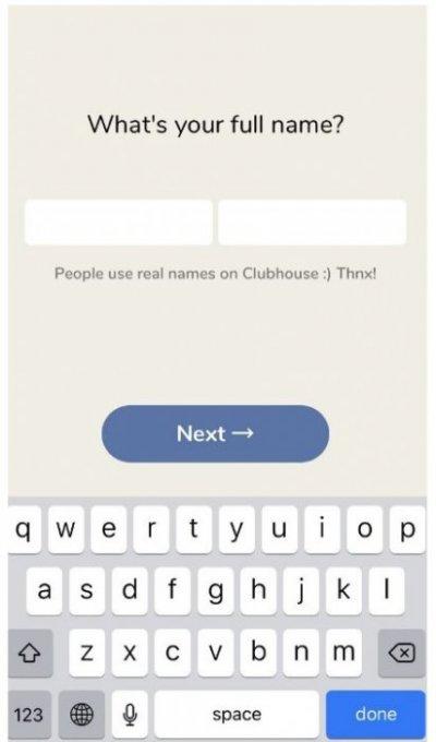 Регистрация в Clubhouse