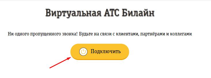 кнопка Подключить